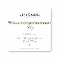 "Life Charms Bracelet - "" May All Your WISHES COME TRUE "" -  Beautifully Gift Box"
